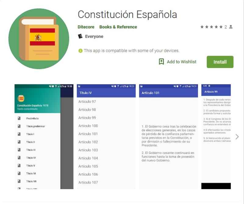 Constitución Española android