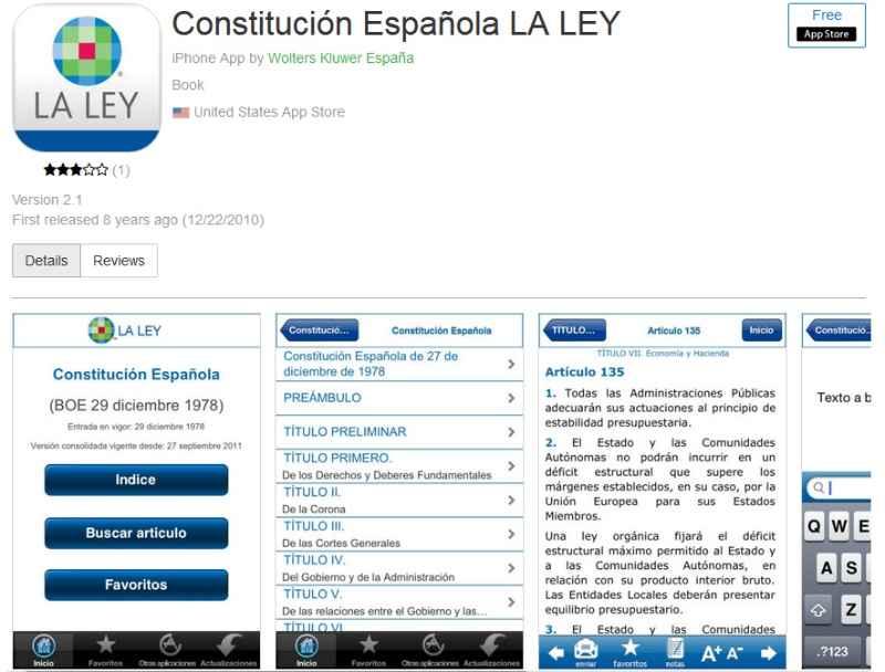 Constitución Española ios