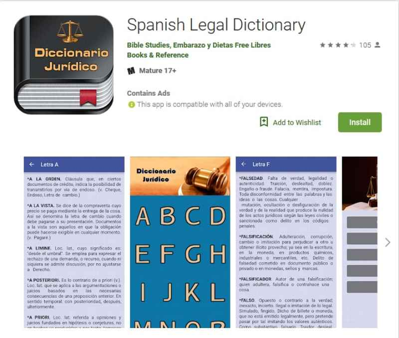 """Spanish Legal Dictionary"