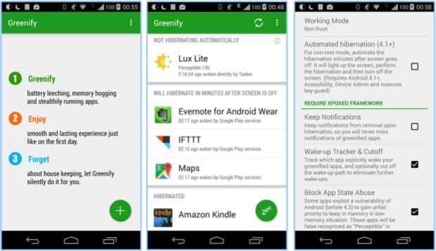 app ahorrador batería greenify
