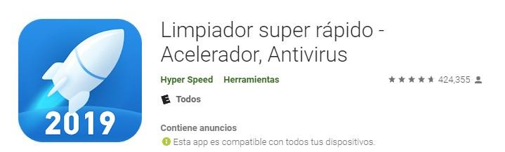 Apps limpiador super rápido acelerador antivirus para teléfono móvil