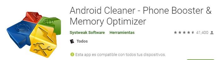 Apps acelerador para para teléfono Móvil Android Cleaner