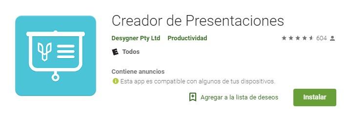 Apps creador de presentaciones para teléfonos