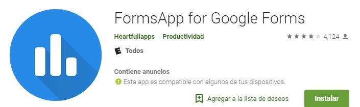 App para hacer encuestas Forms Apps de Google