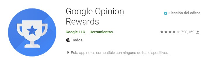 Apps para hacer encuestas Google Opinion Rewards