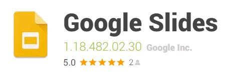 Apps para crear presentaciones Google Slide