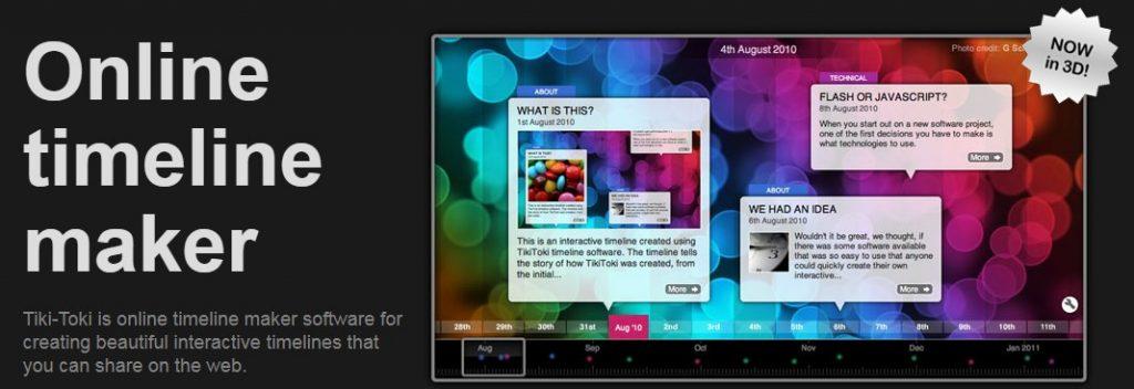Aplicación Online para hacer líneas de tiempo TikiToki