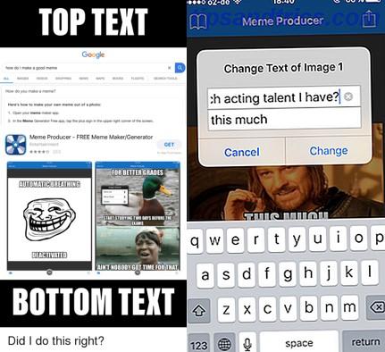 colocar texto a un meme en meme producer