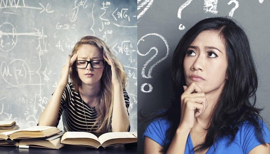 estudiantes confundidas con ejercicios de matemáticas