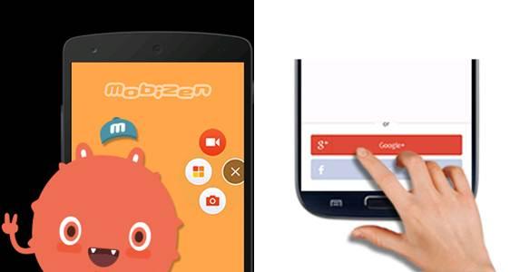 logo de app para grabar pantalla en android mobizen