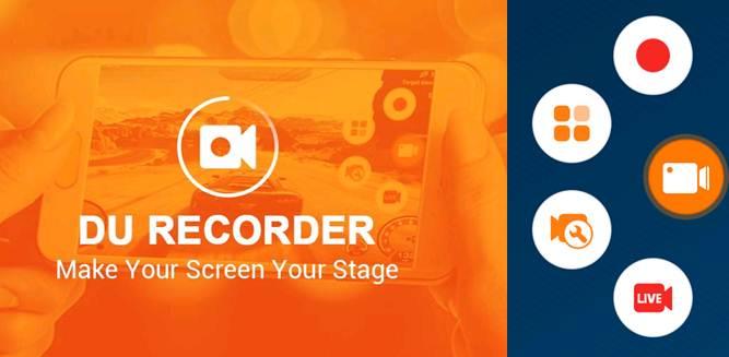 logo y opciones de la app du recorder