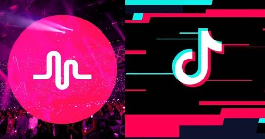 logos de aplicaciones para vídeos musica.ly y tiktok
