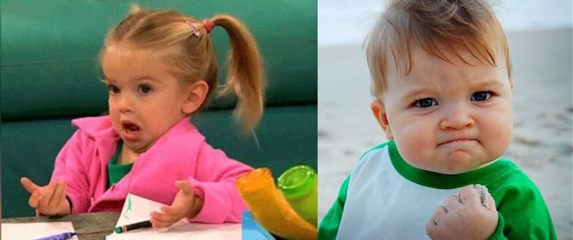 memes de niños con expresiones graciosas