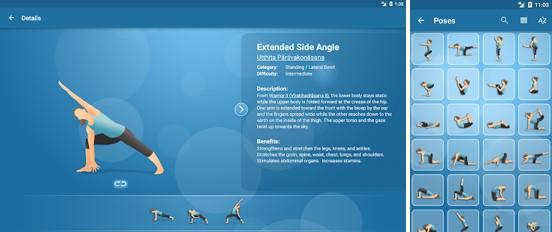 ejecución en la app para hacer ejercicios pocket yoga