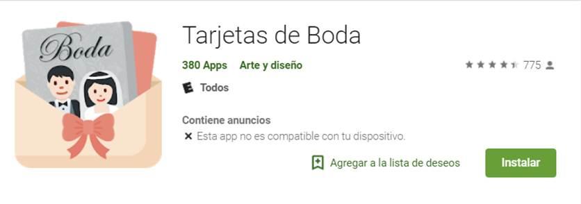app tarjetas de boda en google play