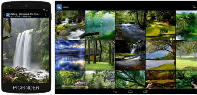 buscador de imágenes PicFinder