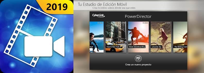 logo y características de la app powerdirector