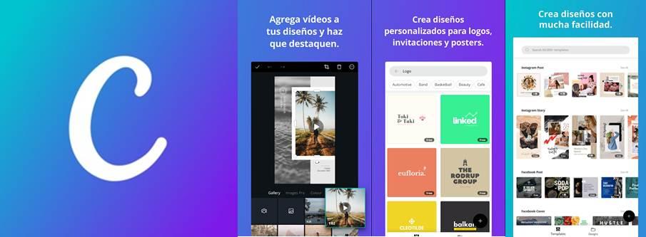 logo y caracteristicas de la app canva