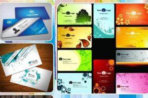 logo y muestras de la app diseño de tarjeta de nombre