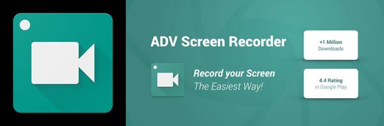 logo y publicidad de adv screen recorder
