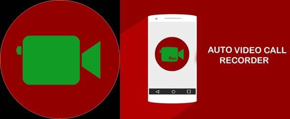 logo y publicidad de auto video call recorder