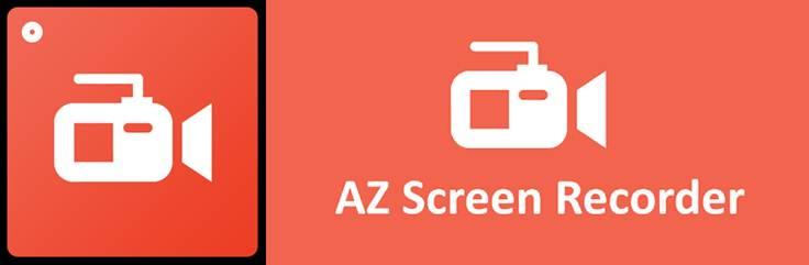 logo y publicidad de az screen recorder