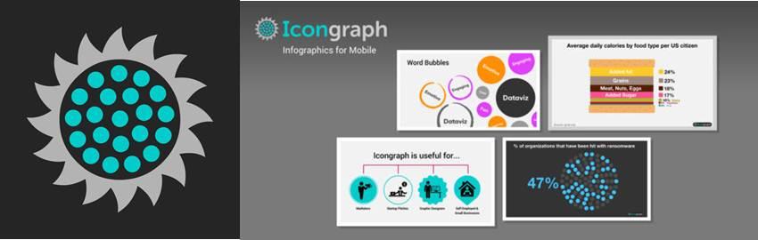 logo y publicidad de la aplicación icongraph