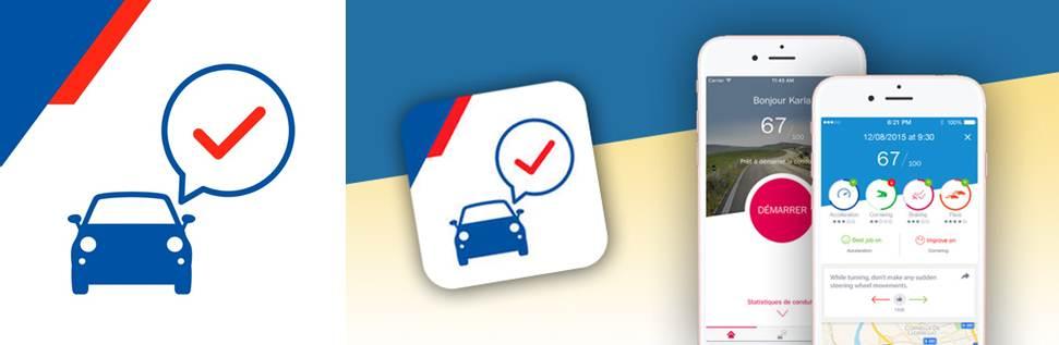 logo y publicidad de la app axa drive 2