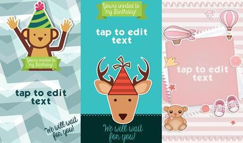 modelos de tarjetas de cumpleaños y baby shower