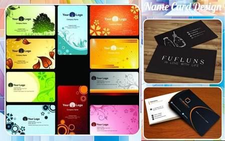 tarjetas de la app diseño de tarjeta de nombre