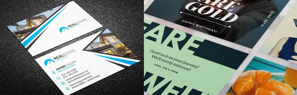 tarjetas de presentación varias