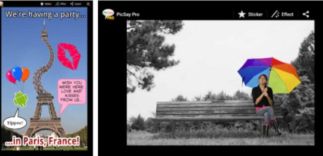 Aplicaciones de collages, PicSay - Photo Editor