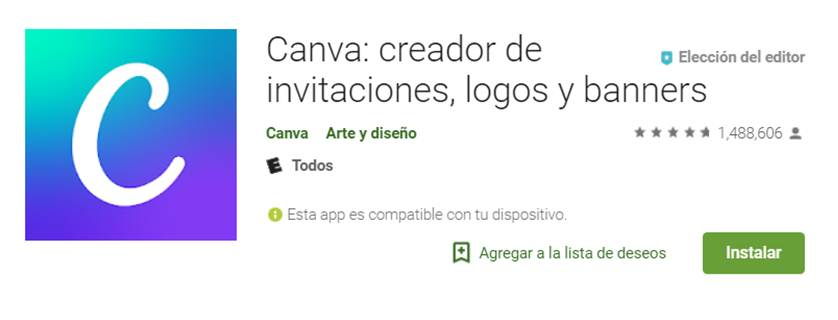 canva en google play store