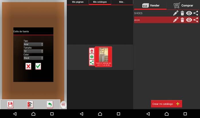 características de catálogo digital