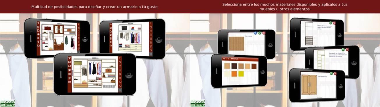 características de la app autoclosets mobile