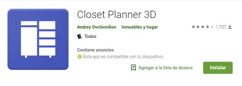 closet planner 3d en google play store