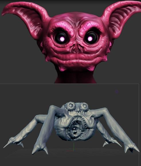 criaturas creadas con sculptris
