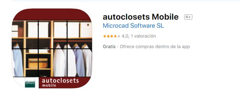 descargar autoclosets mobile en app store