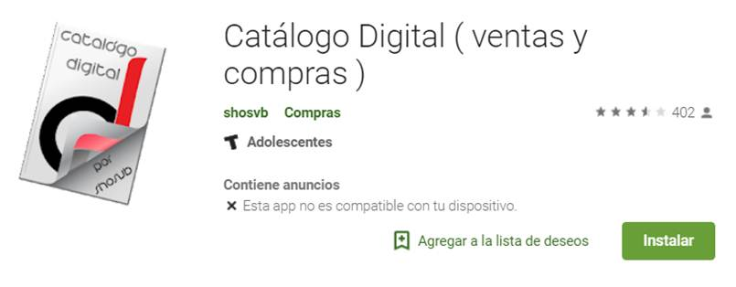 descargar catálogo digital en google play