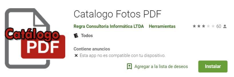descargar catálogo fotos pdf en google play store