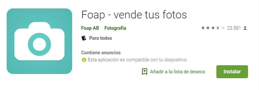 descargar foap en google play