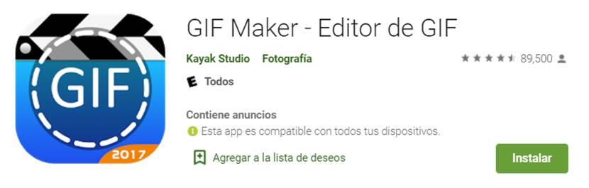 descargar gif maker - editor de gif