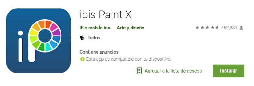 descargar ibis paint x en google play