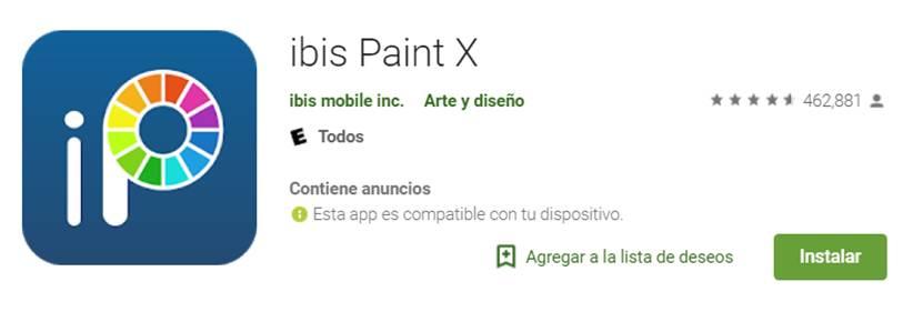descargar ibis paint x en google play