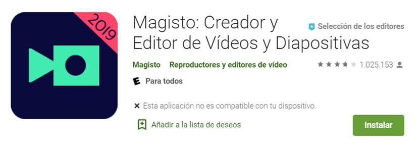 descargar magisto para android