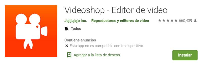 descargar videoshop en google play