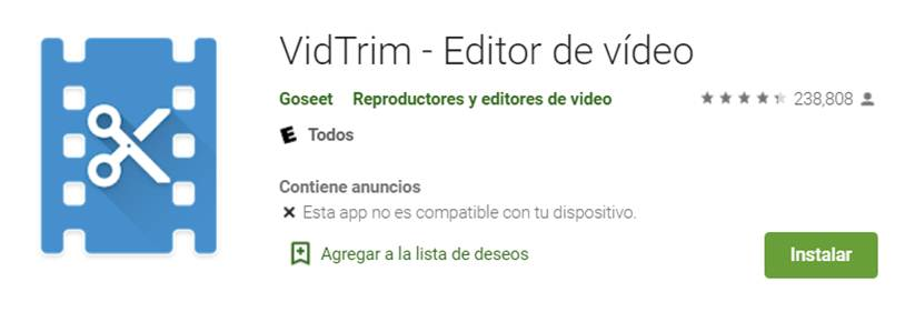 descargar vidtrim en google play