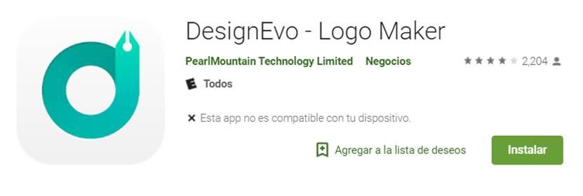 designevo en google play store