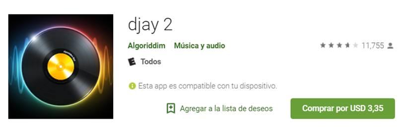 djay 2 en google play store