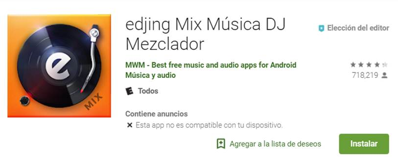 edjing mix música dj mezclador en play store